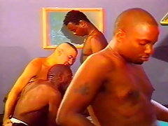 Ebony and Ivory Uncaring Orgy on Incorporate Table
