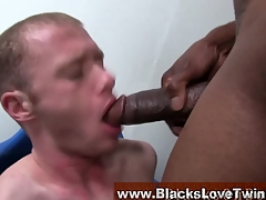 Gay interracial facial scene 3