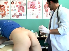 Twink goes back for an third degree and gets his ass checked out by the doctor