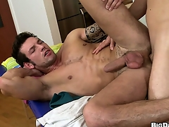 This hot ass massage turned improper when the masseur stuffed his tool up his clients man ass