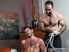 Tristan is teased with the addition of agonizing with the addition of gets tied up harder beyond everything his dig out