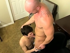Hardcore gay First he gets the messenger to deep-throat his