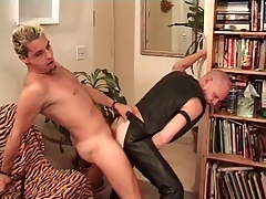Horny leather headquarter fucked from behind