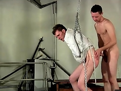 Bound close by a straitjacket and fucked foreign behind