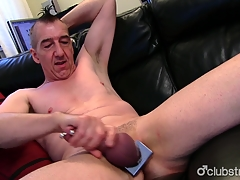 Pierced Straight Marc Jerking Off His Invoice