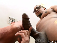 Hot guy loves this monster cock abysm in his booty