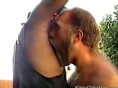 Kinky older bear gets visited