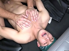 Impressive hunk lured secure having wild oral job with gay