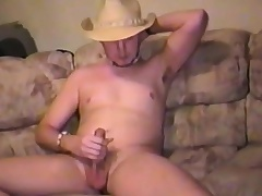 Sexy young stud plays far his balls and takes his cock to pleasure