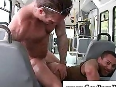 White stud fucks black hunk anal