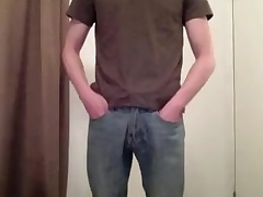 Erection in jeans/ FTL briefs