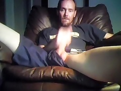 Seductive fagot is jerking in the apartment and shooting yourselves on web cam