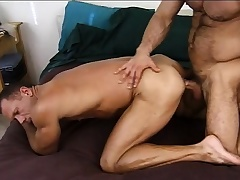 Lustful army stud gives a sexy recruit the anal drilling he deserves
